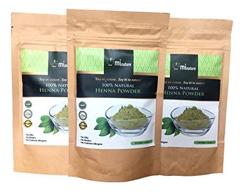 100% natürliches Henna-Pulver 3 (drei) x 100 g - 300 g reines Lawsonia Inermis GMP Halal FDA Cert 100 g natürlich - Natürliche Henna-pulver