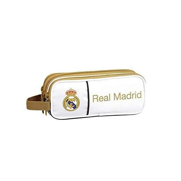 Real Madrid CF Estuche portatodo Triple 3 Cremalleras Escolar