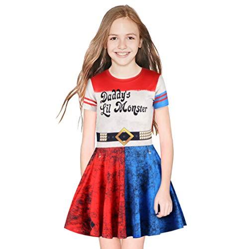 Harley Quinn Selbstmordkommando Kinder Mädchen Party Prinzessin Kleider 10-11 Jahre (145cm-165cm Kind) ()