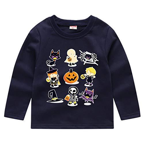 Timogee Kleinkind Baby Pullover Tops Halloween Kostüm T-Shirt Kinder Jungen Mädchen Halloween Kürbis Sweatshirt (Weiches Und Bequemes Kürbis Kleinkind Kostüm)