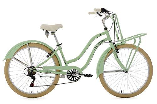 KS Cycling Damen Beachcruiser Cargo Cruiser Melba Grün Fahrrad, Mintgrün, 26