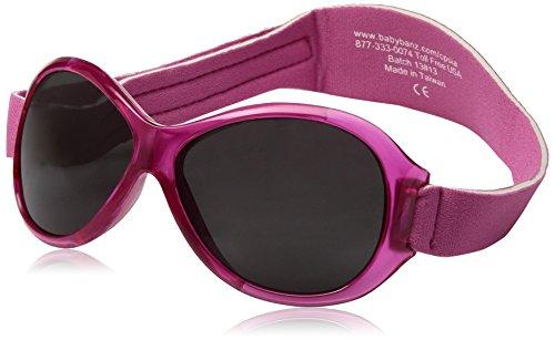 Banz 01092 Sonnenbrille Retro Kidz mit elastischem Neoprenband, für Kopfumfang 50-60 cm (circa bis 2-5 jahre), UV400, rosa