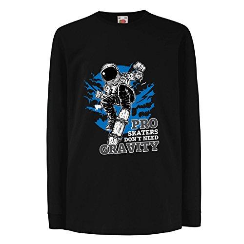 irt mit Langen Ärmeln Pro Skaters Don't Need Gravity - Skateboard Sprüche, Skate Leben Zitate (9-11 Years Schwarz Mehrfarben) (Beste Halloween-zitate Und Sprüche)