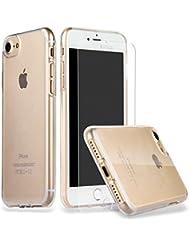 iPhone 7 Hülle, ILUXUS® [Liquid Crystal] Soft Flex Silikon DÜNN [Crystal Clear] Transparent Ultra Bumper-Style Handyhülle Premium Kratzfest Silikon TPU Durchsichtige Schutzhülle für Apple iPhone 7 Case Cover - Crystal Clear
