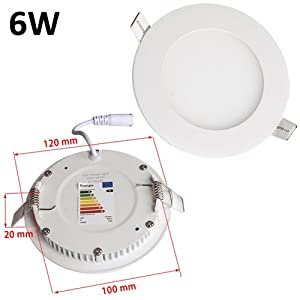 JSG Accessories® LED Round Recessed Ceiling Panel down Light Ultra-slim Lamp Ultra-Thin (Day White, Warm White) by JSG Accessories