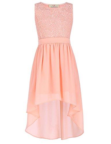 GRACE KARIN Elegant Maedchen Aermellos Urlaub Kleid 6-7 Jahre CL8976-2 (Kleider Für Mädchen 7-jährige)