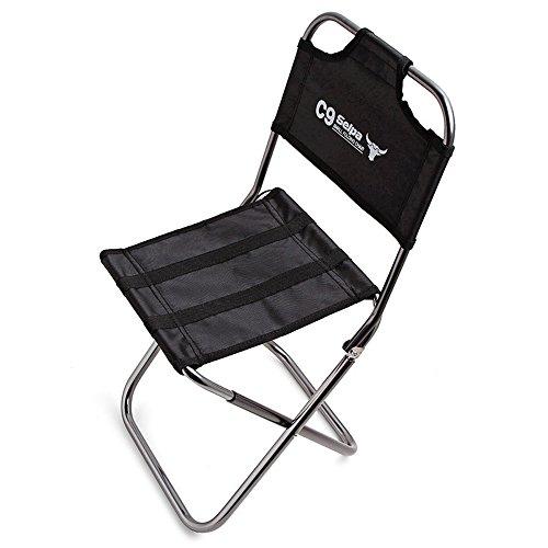 EVIICC Pêche Tabouret Assise avec Sac de Transport Home Garden Chaise Pliante pour Camping Plage de Pique-Nique/Noir
