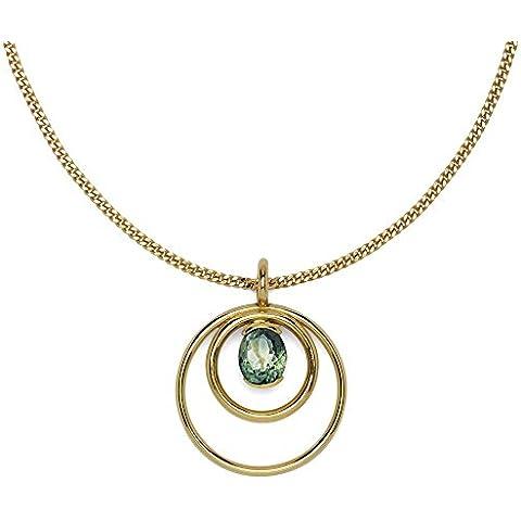 Ansuini Navona Ciondolo Donna Oro Giallo con pietra preziosa Made in Italy