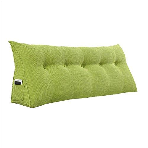 Baiyun flyin Mai® Rückenkissen, Dreieckiges Softpack Kopfteil Lesekissen, Sofa Lendenkissen, 6 Farben, Mehrere Größen Erhältlich (Farbe : Green, größe : 120x50x22CM) - Polyester Kopfteil