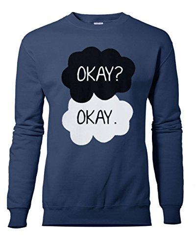 Unisexe OKAY OKAY. OK OK? Sweat-shirt unisexe nouveau S-XXL. Couleurs au choix Bleu Marine
