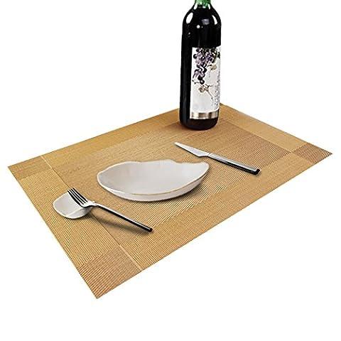Table Mats (Set of 6), Soriace Place Mats Sets Table Place Dinner Mats Washable Plastic Vinyl Table Mats, 45*30cm,