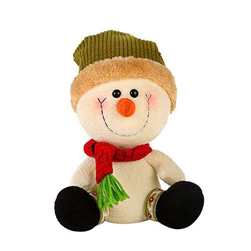 fake kamin deko Igemy Puppe Weihnachten Stil Schneemann Hut Angefülltes Plüsch Spielzeug Entwicklungsspielzeug (A)