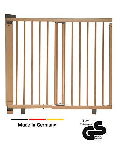 Geuther - Schwenk-Türschutzgitter 2734, für Kinder, Hunde und Katzen, Made in Germany, Befestigung...