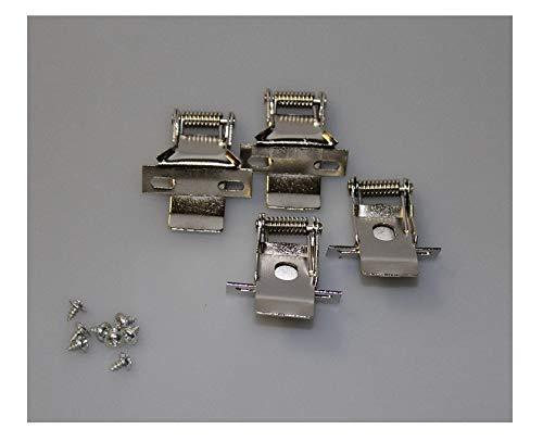 Klemm - Halterung Set 4 Stück für LED Panel Montagematerial Decke Einbau Befestigung HELITEC - Vier Stück Panel