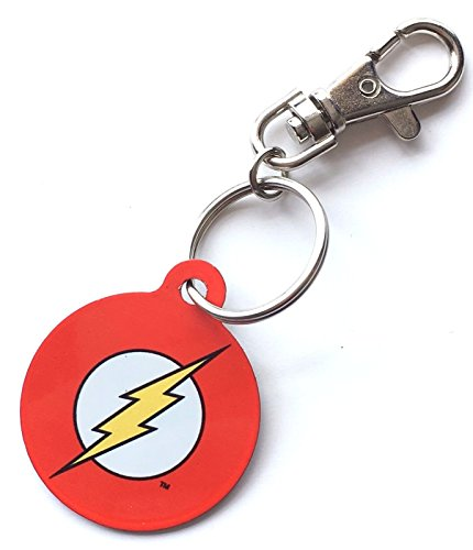 Personalised Licensed DC Comics Marvel Comic Hero Easy Clip on Key Ring. 38mm. The Flash.