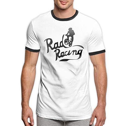 Patrick R Garrett Rad Racing-Vintage 80er Jahre T-Shirt Trendy Herren Ringer T-Shirt Komfort Kurzarm T-Shirt Top -