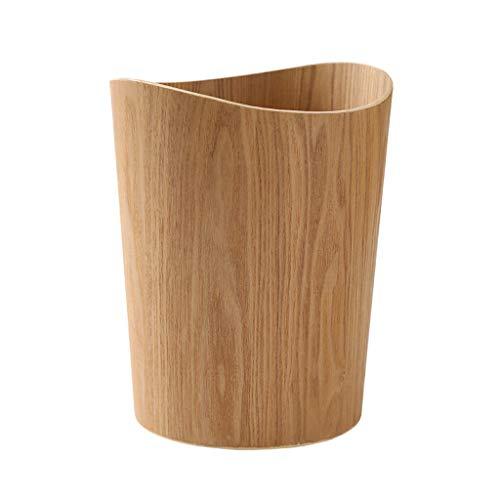 BEIGOED Mülleimer Aus Holz Keine Abdeckung,Haushalt Schlafzimmer Wohnzimmer Büro Badezimmer Papierkorb Lagereimer-A -