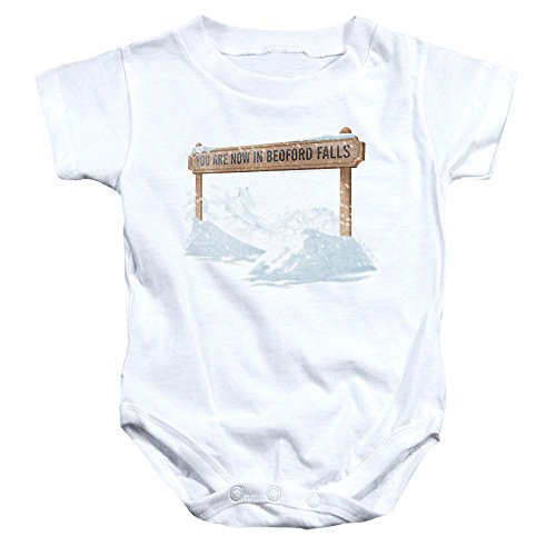 2Bhip It's A Wonderful Life Christmas Now in Bedford Falls Baby Infant Snapsuit
