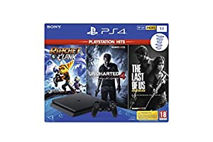 psp4: Playstation 4 (PS4) - Consola 1TB + Ratchet & Clank + The Last of Us + Uncharted...