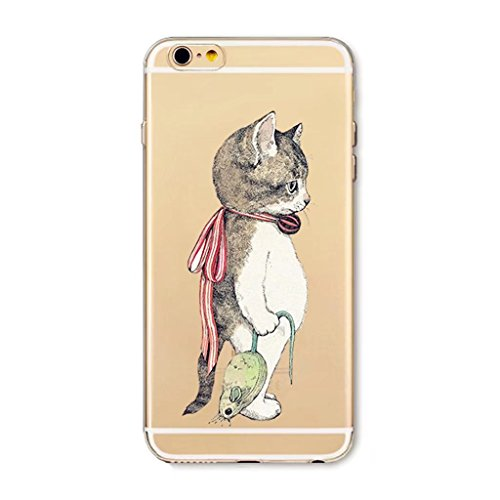41ff67SL9kL UK BEST BUY #1MUTOUREN HIGH QUALITY phone case for Apple iPhone 7 Protective Bumper Case Ultra Thin Clear cute cartoon Art Pattern Crystal Rubber Flexible Slim Skin Case for iPhone 7 Cute Design Case Back Cover Phone Resistance Drop Shape Fashion Ultra Thin Pattern cartoon cat mouse price Reviews uk