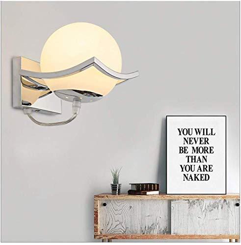 Glaskugel LED Wandleuchten Modern wandleuchte innen,Metall Edelstahl Halterung ,wandleuchten wohnzimmer, Schlafzimmer, Gang