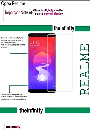 SuperdealsForTheinfinity Premium 2.5D Anti No Rainbow, Tempered Glass Screen Protector Guard for Oppo Realme 1 QC Pass 09 (White)
