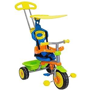 Trikestar Children's 4 In 1 Kids Trike Bike Tricycle 3 Wheel With Canopy & Handle - Multi-Coloured