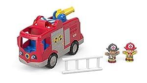 Fisher-Price Little People Camión Ayuda al bombero, juguetes bebés 1 año (Mattel FPV33)