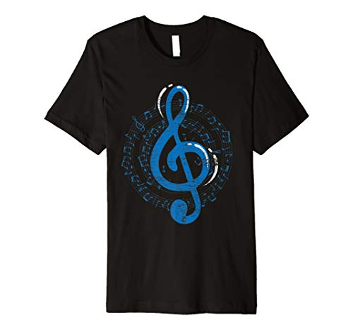 Notenschlüssel T-Shirt Musik Musiker Violinschlüssel Noten