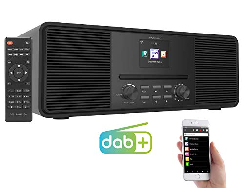 VR-Radio Digital Radio: Stereo-Internetradio mit CD-Player, DAB+/FM & Bluetooth, 40 W, schwarz (DAB Radio mit CD Player)