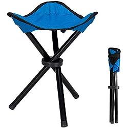 Lysport Tabouret de trépied en plein air Portable Foldable Small Chaise en toile à 3 pattes pour randonnée Camping Pêche Picnic Beach BBQ Travel Backpacking Garden Seat