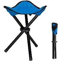 Lysport Taburete de trípode al aire libre Portable plegable pequeño 3-Legged silla de lona