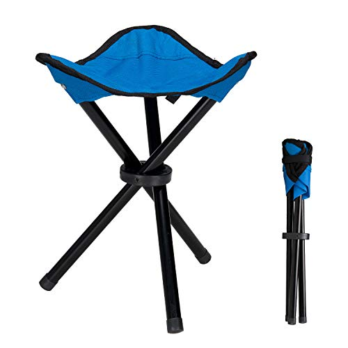 Lysport Tabouret de trépied en plein air Portable Foldable Small Chaise en toile à 3 pattes pour randonnée Camping Pêche Picnic Beach BBQ Travel Backpacking Garden Seat
