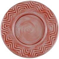 Better & Best 2781350 - Plato de pan de hierro esmaltado redondo, con relieve en zig zag, de 14,5 cm de diámetro
