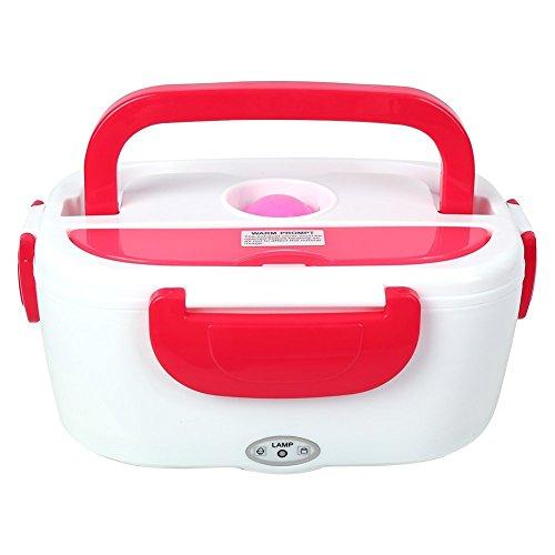 Lunch box elettrico portatile scaldavivande elettrico vaschetta portavivande termico per l'ufficio, casa, scuola, in viaggio ,rosso