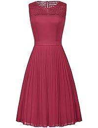 bc6b01d8282 Belle Poque Womens Vintage 1950s Vintage Solid Color Prom Dresses  Sleeveless GF461