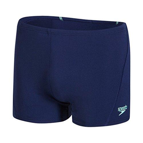 Speedo Herren Essential Aquashorts mit Passe Swimwear Marine/Green Glow