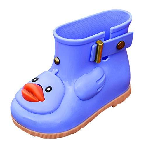 QinMM Botas Impermeables Lluvia Zapatos para Bebé Infantil Niños Bebé Caricatura Pato Caucho Botas 0-7 años