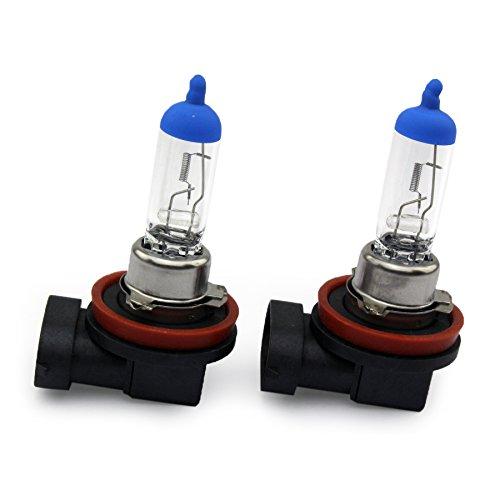 Preisvergleich Produktbild 2x H8 35W Blue / Top PGJ19-1 Halogen Scheinwerferlampe CLEAR / WARM WEISS Nebellampe Glühlampen für Nebelscheinwerfer 12Volt von Jurmann Trade GmbH® Mit E-Prüfzeichen somit zugelassen im Bereich der STVZO