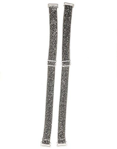 Coriko 10103 textiler BH-Träger mit Glitter Silber