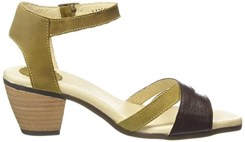 FLY London Saiz676fly Damen Plateausandalen Yellow (Ochre/Olive)