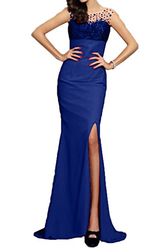 ivyd ressing Femme Moderne Mermaid fente Paillette Lave-vaisselle robe Party Prom robe bleu roi