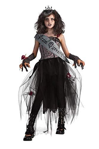 Mädchen Zombie Gothic Ballkönigin Kostüm Medium 5-7 years