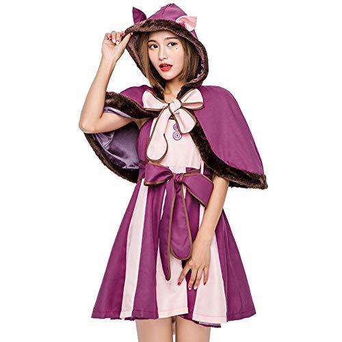 Cheshire Cat Kostüm Für Erwachsene - NiQiShangMao Alice Kostüm Cheshire Cat Cosplay