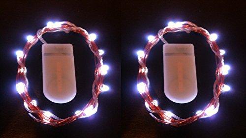 HLS 2 x 30 LED CW Luces de la hada de la batería adentro Blanco