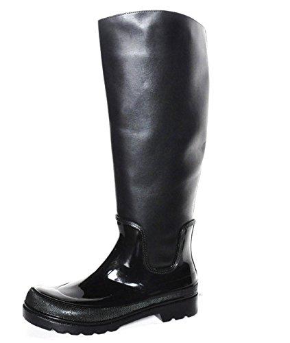 Malu  Malu Vegetal, bottes en caoutchouc femme Noir - Noir