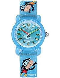 Ho Clock 3D Cartoon Kid's Watch, With Monkey Pattern Silicone Band Waterproof Quartz Watch Gift For Children Boys Girls