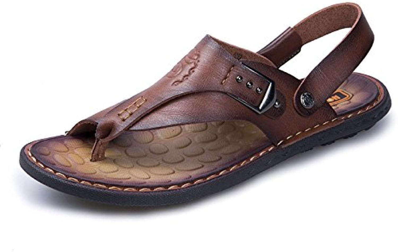 Mode Herren Strand Schuhe Freizeitschuhe Sandalen DarkBrown 41Herren Strand Freizeitschuhe Sandalen DarkBrown 41 Billig und erschwinglich Im Verkauf