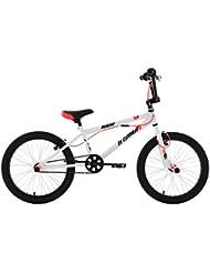 KS Cycling Uni Bmx Freestyle Hedonic Fahrrad, Weiß-Neonrot, 20