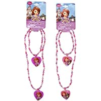 Disney Princess Sofia the First Girls Heart Charm Necklace and Bracelet Set - Assorted Styles (1 Set) by Disney